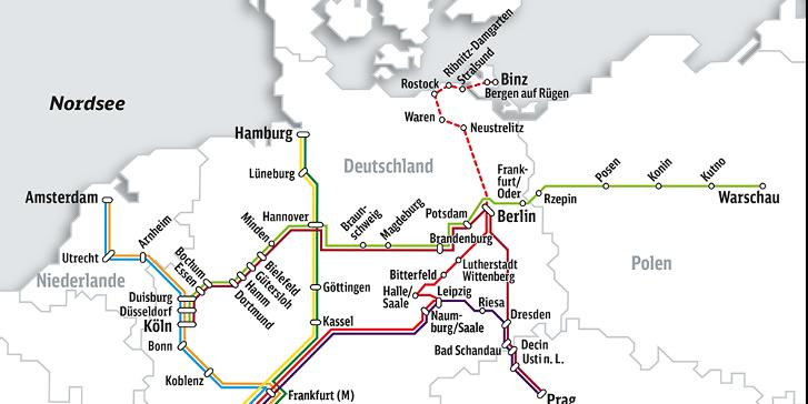deutsche bahn karte Elektronisches Kursbuch der Deutschen Bahn