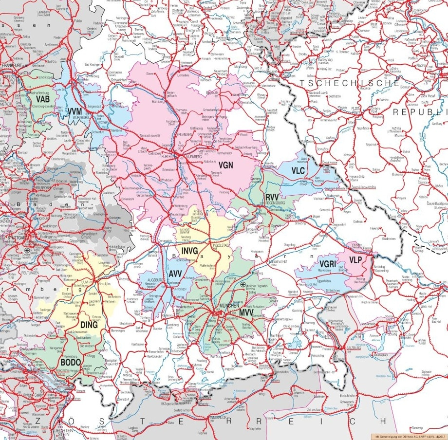 Verbundkarte Bayern on