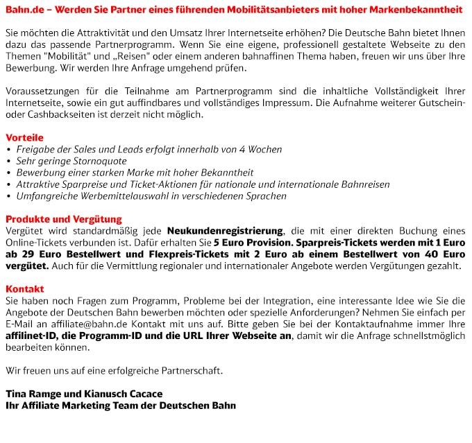 Programmbeschreibung bahn.de
